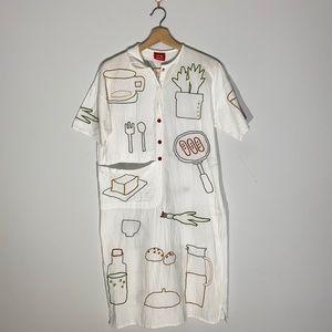Fun Food Embroidered Shirt Pyjama